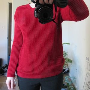 Red Acrylic Forever21 Sweater, Size Medium